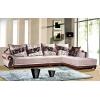 欧式组合沙发/时尚布艺皮艺沙发组合/皮配布沙发