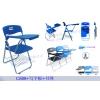 塑钢折叠培训办公椅,学生折叠椅,带写字板椅办公会议椅