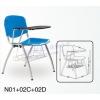 塑钢学校家具办公接待椅学生办公会议椅学生写字椅小桌板椅