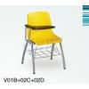 加厚办公写字板椅子,加厚结实胶板学生椅,带写字板学生椅子