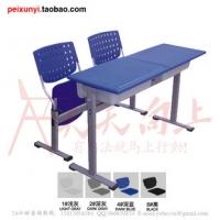 双人塑钢课桌椅 听写课桌椅广东中山地区厂家直销