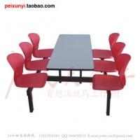 广东汕头多功能餐桌椅多人快餐椅防火板台面