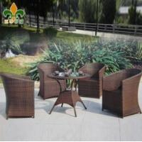 户外家具 庭院家具 仿藤桌椅套件 藤编桌椅 茶几套件A837
