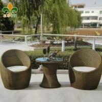 户外家具 仿藤桌椅 庭院 藤编桌椅 罗椅加垫茶几套件A851