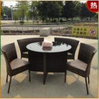 户外家具 庭院家具 仿藤桌椅套件 藤编桌椅 桌椅套件A847