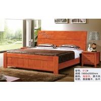天利圆612橡木床,厂家直销南康实木床,白胚床,双人床,餐椅