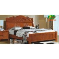 天利圆631橡木床,厂家直销南康实木床,白胚床,双人床,餐椅