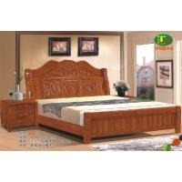 天利圆632橡木床,厂家直销南康实木床,白胚床,双人床,餐椅