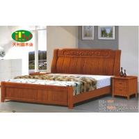 天利圆628橡木床,厂家直销南康实木床,白胚床,双人床,餐椅