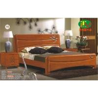 天利圆618橡木床,厂家直销南康实木床,白胚床,双人床,餐椅