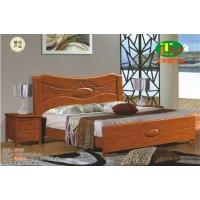 天利圆619橡木床,厂家直销南康实木床,白胚床,双人床,餐椅