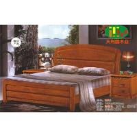 天利圆620橡木床,厂家直销南康实木床,白胚床,双人床,餐椅