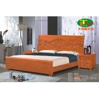 天利圆621橡木床,厂家直销南康实木床,白胚床,双人床,餐椅