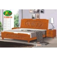 天利圆624橡木床,厂家直销南康实木床,白胚床,双人床,餐椅