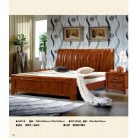 赣州南康江西珍园家具联圆牧歌 908#泰国进口橡木床 床头柜