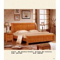 赣州南康江西珍园家具联圆牧歌 865#泰国进口橡木床 床头柜