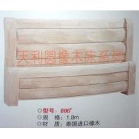 806白坯床,家具厂直销橡木床|实木床|白胚床