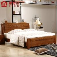 意特尔美国红橡木床大气纯实木床简约现代实木床1.8米双人床