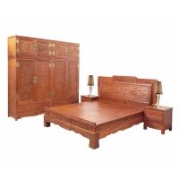 大人物红木家具缅甸花梨大床,顶箱柜