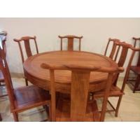 缅甸花梨红木高档餐桌圆桌