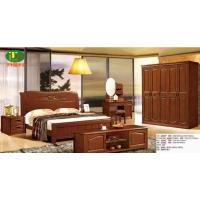天利圆橡木床套房系列,批发南康实木床,白胚床,双人床,餐椅