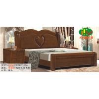 天利圆639橡木床,厂家直销南康实木床,白胚床,双人床,餐椅