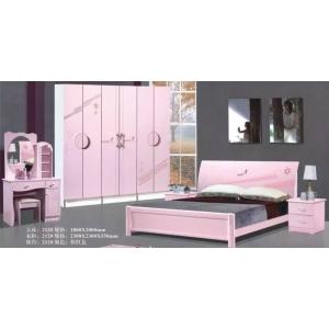【丰伟家具】粉红色*套房系列*橡木床*衣柜*妆台 1套混批
