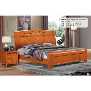 洛蓝好木家具(橡木床)