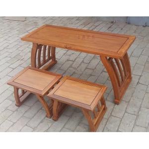 仿古实木国学桌椅书法桌椅