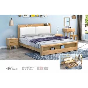 北欧实木床现代简约双人床经济型主卧靠民宿家具TB-115